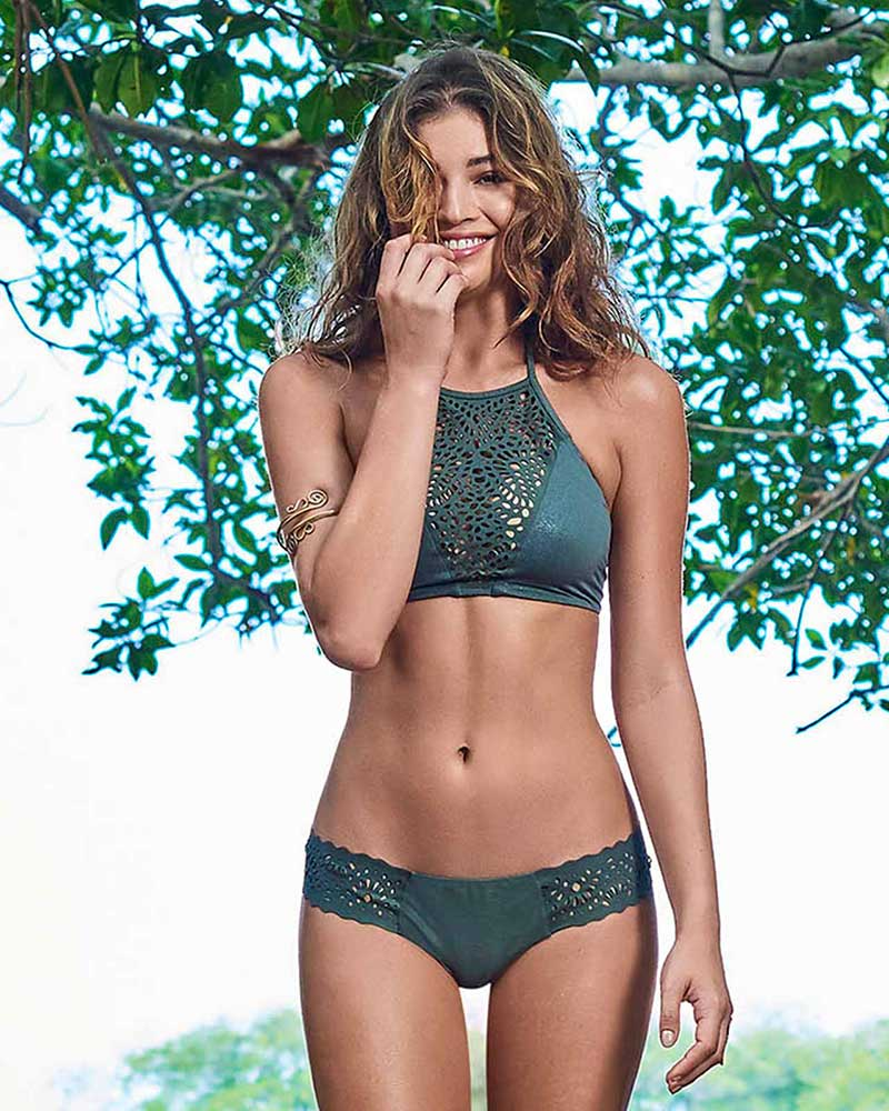 MANGROVE LASER BIKINI BOTTOM - WIDE BY ALMAMIA