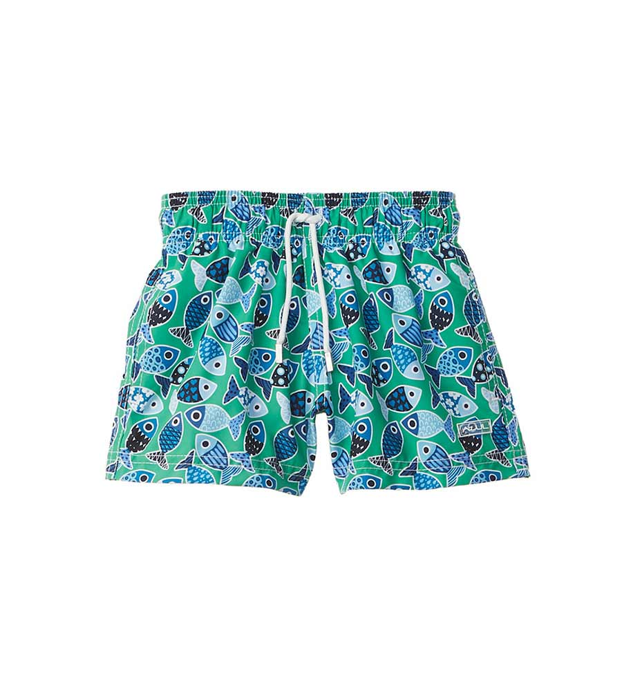 LOVE, FISH SWIM SHORTS AZUL 386