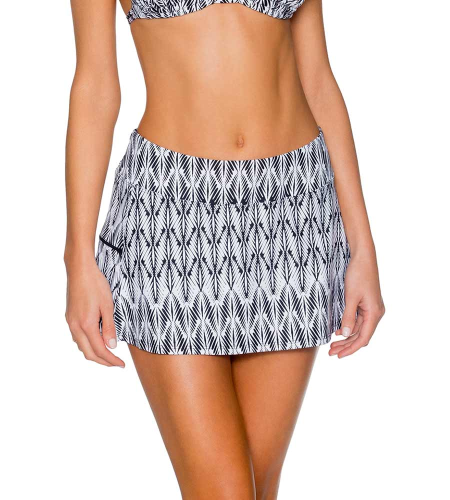 098607259710e WILLOW SPORTY SWIM SKIRT SUNSETS 40BWILO