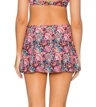 LONDON CALLING BLACK SUMMER LOVIN SWIM SKIRT SUNSETS 41BLCBK
