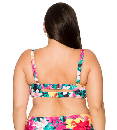 NATIVE BLOOMS ICONIC TWIST BANDEAU TOP CURVE 555TNABL