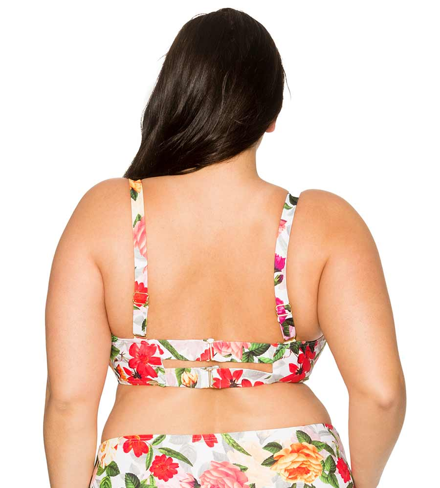 ROSE GARDEN ICONIC TWIST BANDEAU TOP CURVE 555TROGA