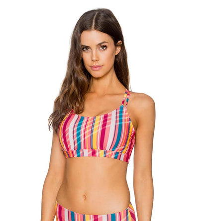 BUNGALOW STRIPE TAYLOR BRALETTE TOP SUNSETS 56BUNG