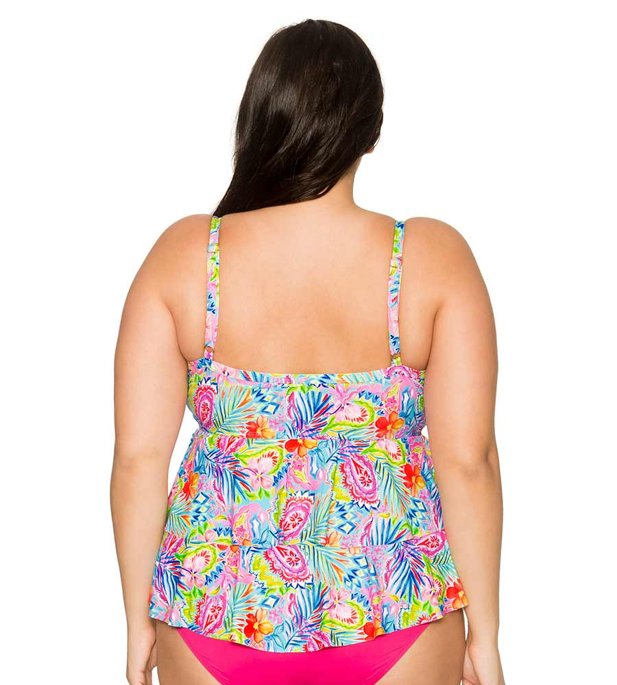 SIESTA KEY OLIVIA LAYERED TANKINI TOP CURVE 592TSIKY