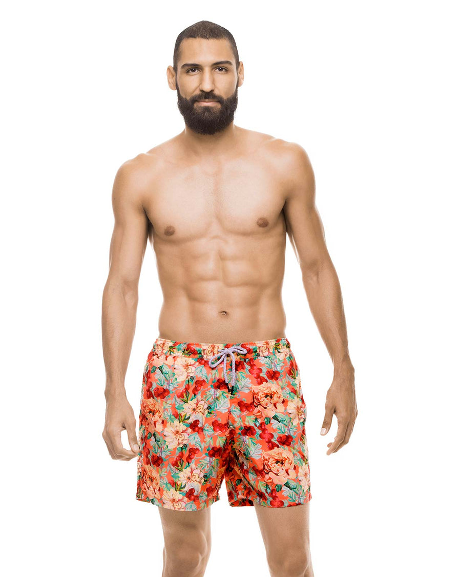 FOLIAGE CAMOUFLAGE FLORAL SWIM TRUNK BY ESTIVO