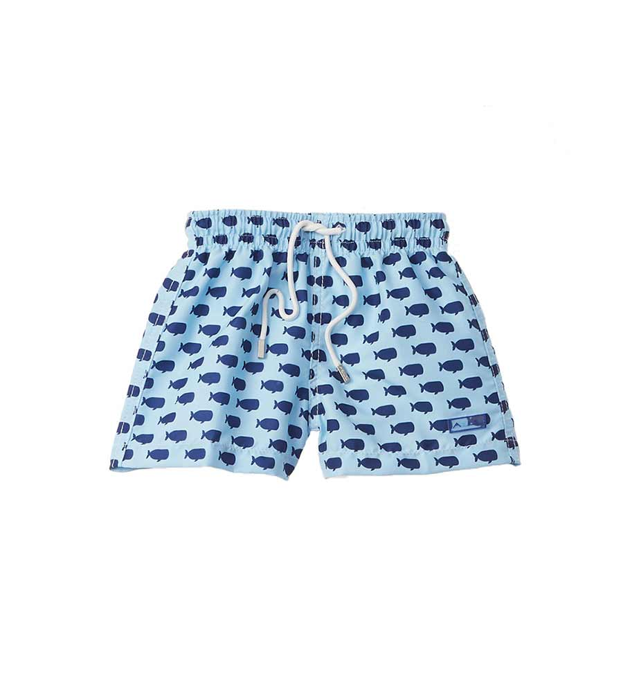 BLUE OH, WHALE INFANT SWIM SHORTS AZUL 677-B