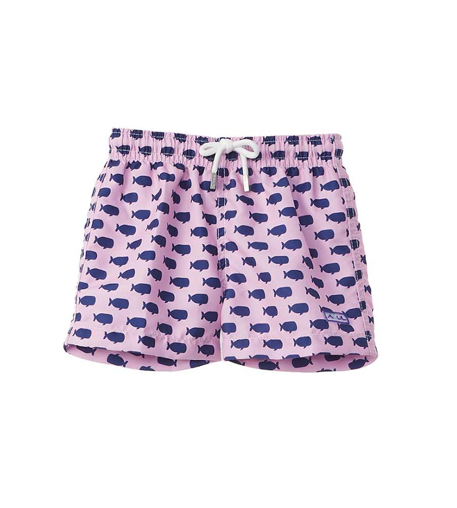 PINK OH, WHALE INFANT SWIM SHORTS AZUL 677-P