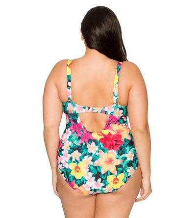 NATIVE BLOOMS SASHA CROSSOVER ONE PIECE CURVE 685NABL