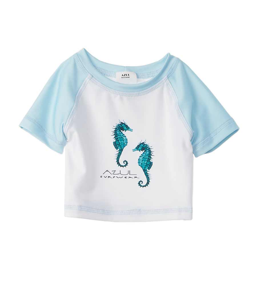 SEA STALLION CROP RASHGUARD AZUL 7056