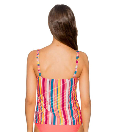 BUNGALOW STRIPE TAYLOR TANKINI TOP SUNSETS 75BUNG