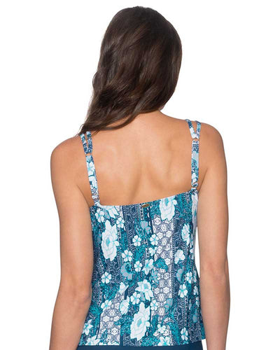 VINTAGE BLOOMS TAYLOR TANKINI TOP SUNSETS 75VIBL