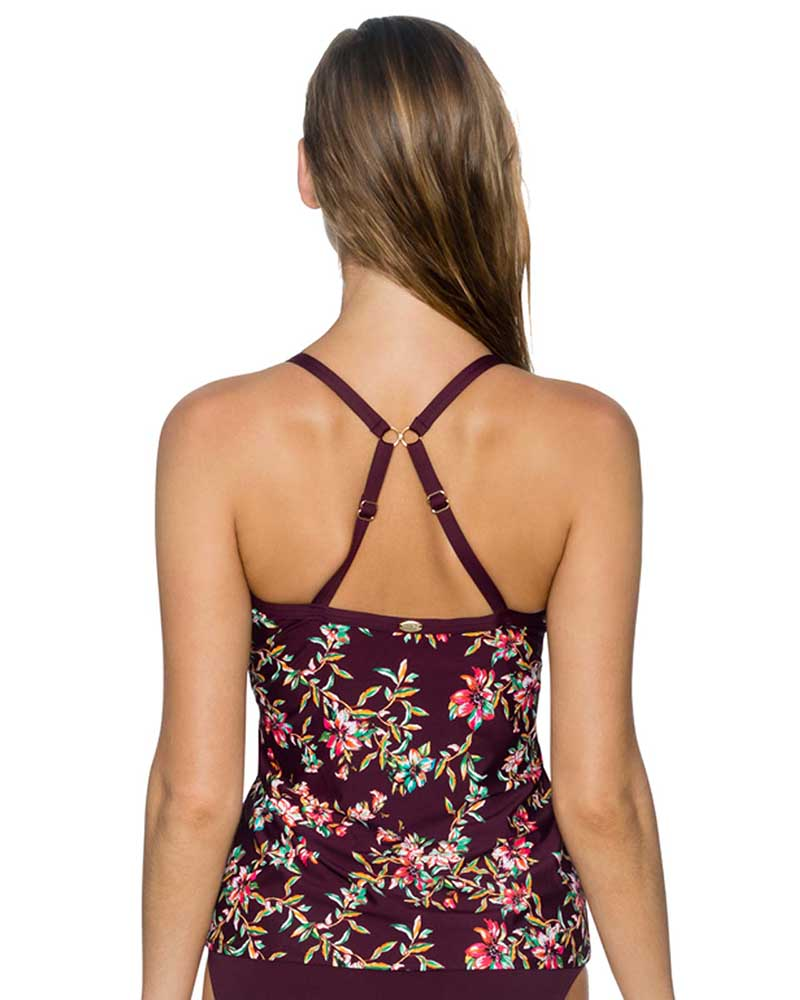 ROSEWOOD VINES FOREVER TANKINI TOP BY SUNSETS