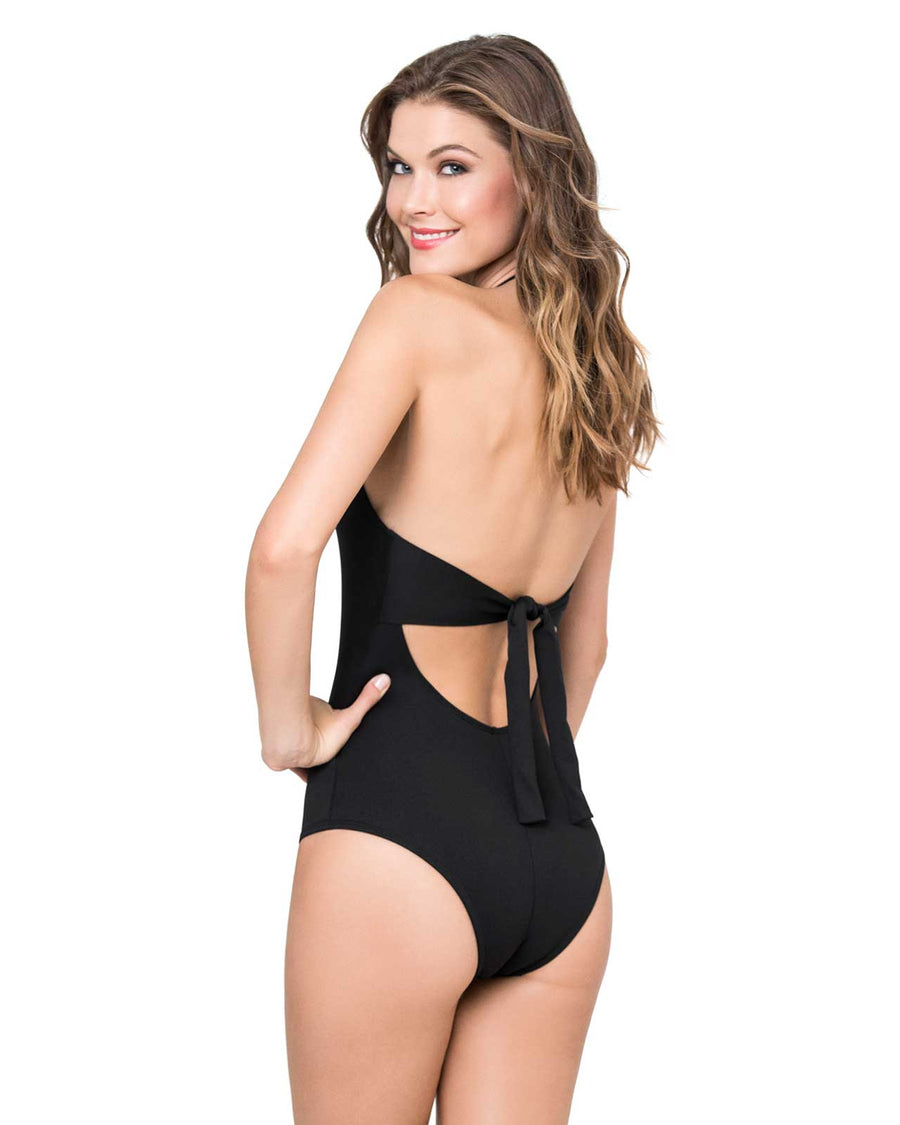 BLACK HIGH NECK ONE PIECE KIBYS 801.BLK
