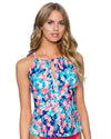 FLOWER BED MIA TANKINI TOP SUNSETS 87TFLBE