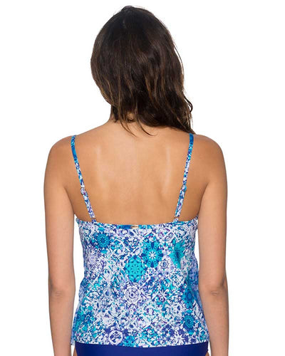 ODYSSEA AVA TIERED TANKINI TOP SUNSETS 92TODSE