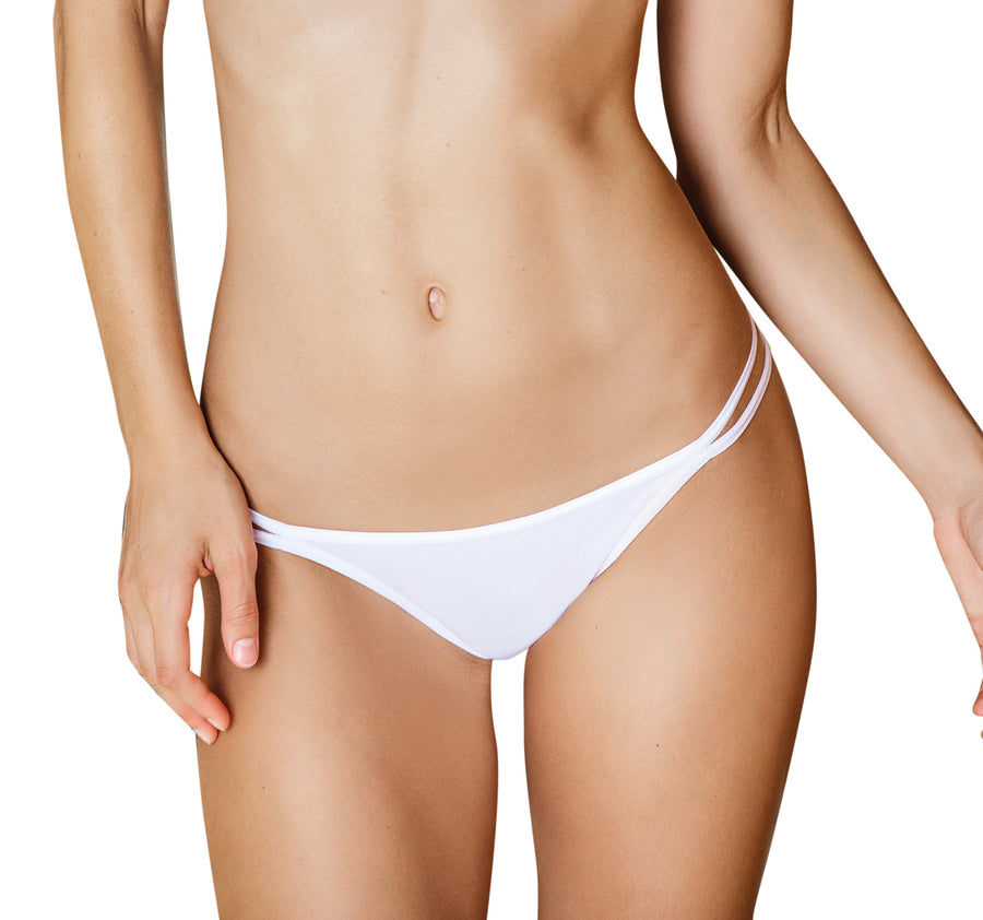 WHITE STRAPPY THONG BY KIBYS