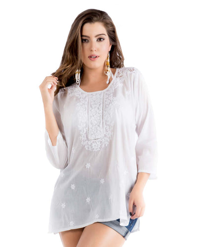 EMBROIDERED TUNIC PRAIAVE ACA-88