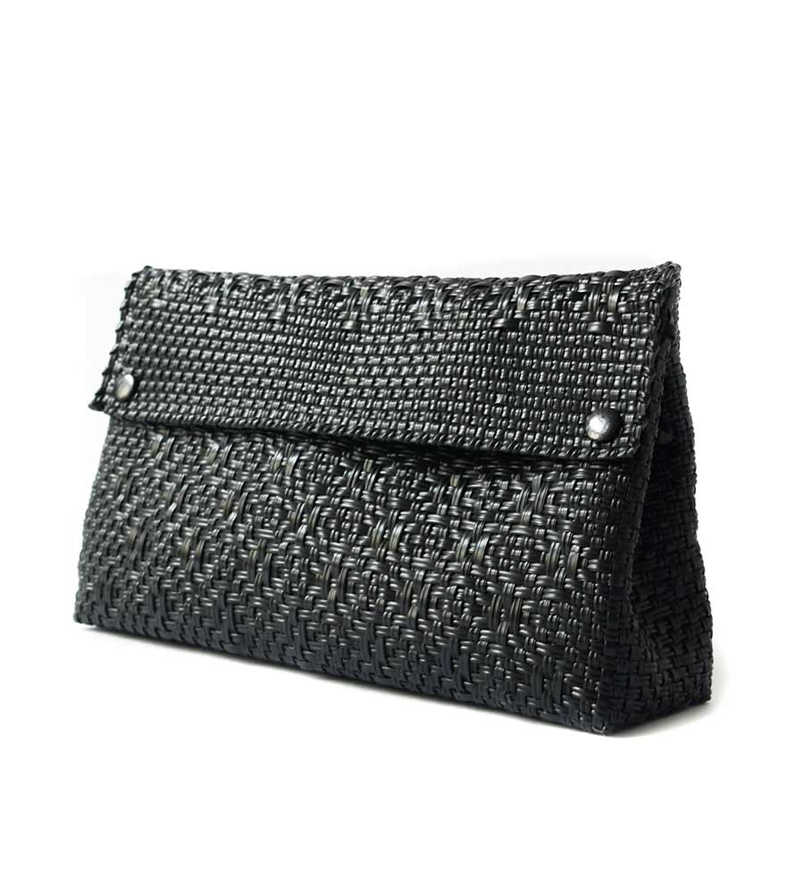ALL BLACK CLUTCH BAG TIN MARIN CL1
