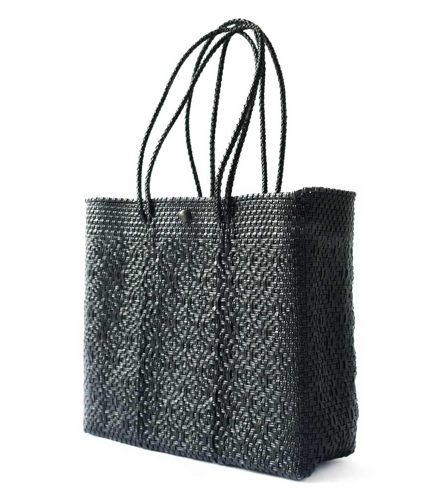ALL BLACK TOTE BAG TIN MARIN T1