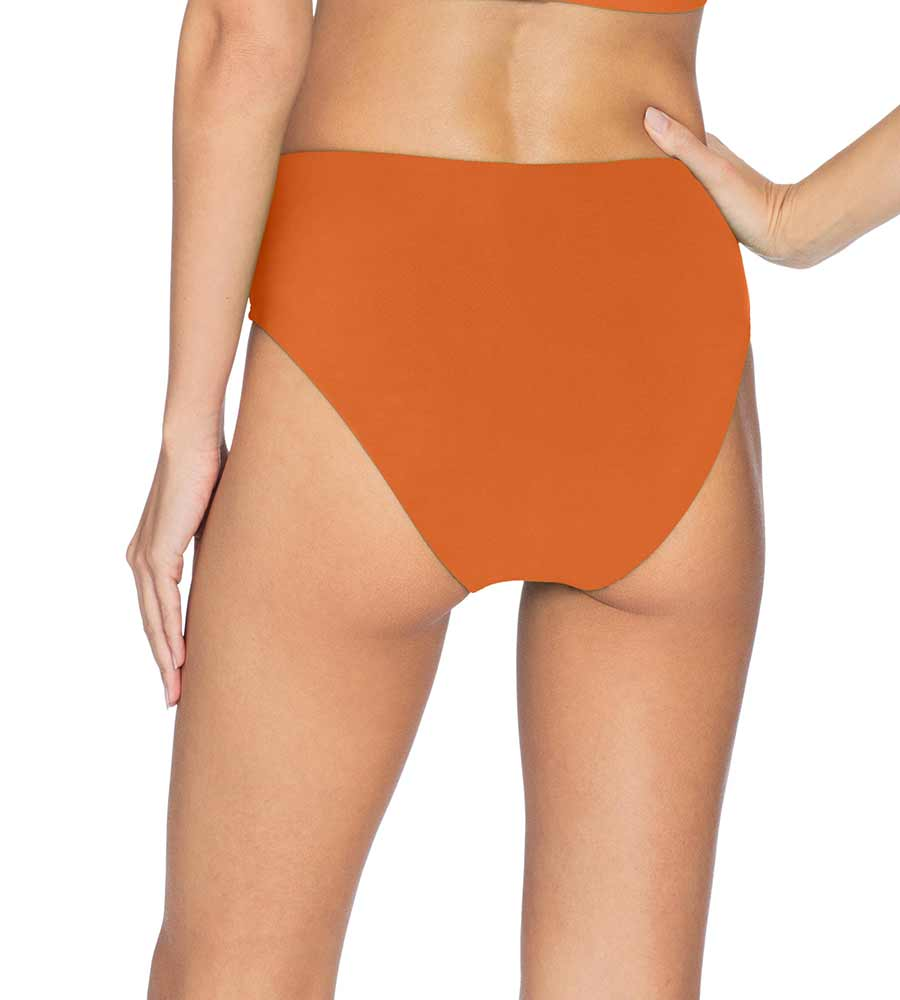 AVA BURNT ORANGE HIGH WAIST BOTTOM BY ROBIN PICCONE