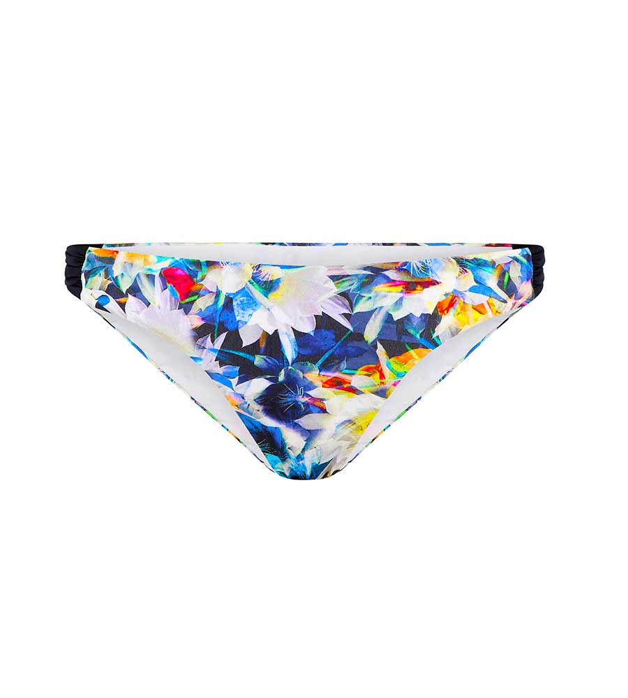 FLOWERBOMB GATHERED SIDE BRIEF AQUA BLU A061707