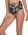 BLACK FLOWERY HIGH WAIST BOTTOM MALAI B00334