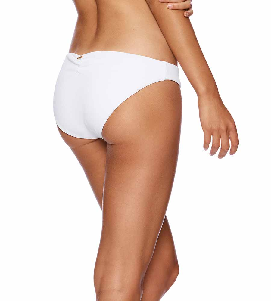 WHITE RIB TIDE KATE FULL BOTTOM BY BEACH BUNNY