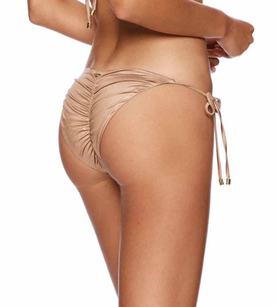 BLUSH OMBRE ARIEL SKIMPY BOTTOM BY BEACH BUNNY