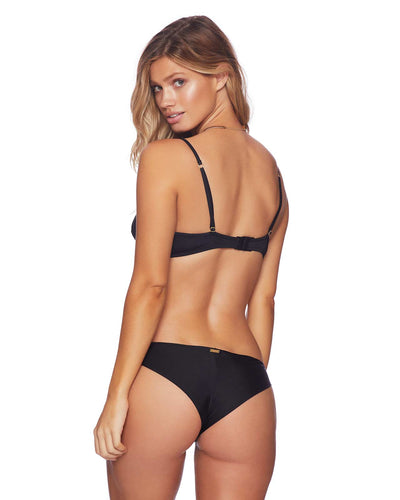 BLACK BUNNY BASICS DANI SKIMPY BOTTOM BEACH BUNNY B18113B1-BLCK