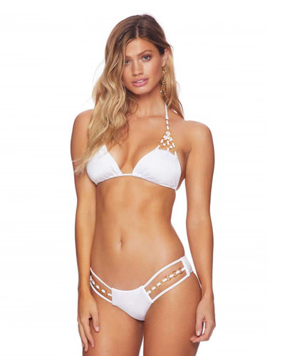 WHITE IRELAND RING TRI TOP BEACH BUNNY B18127T2-WHTE