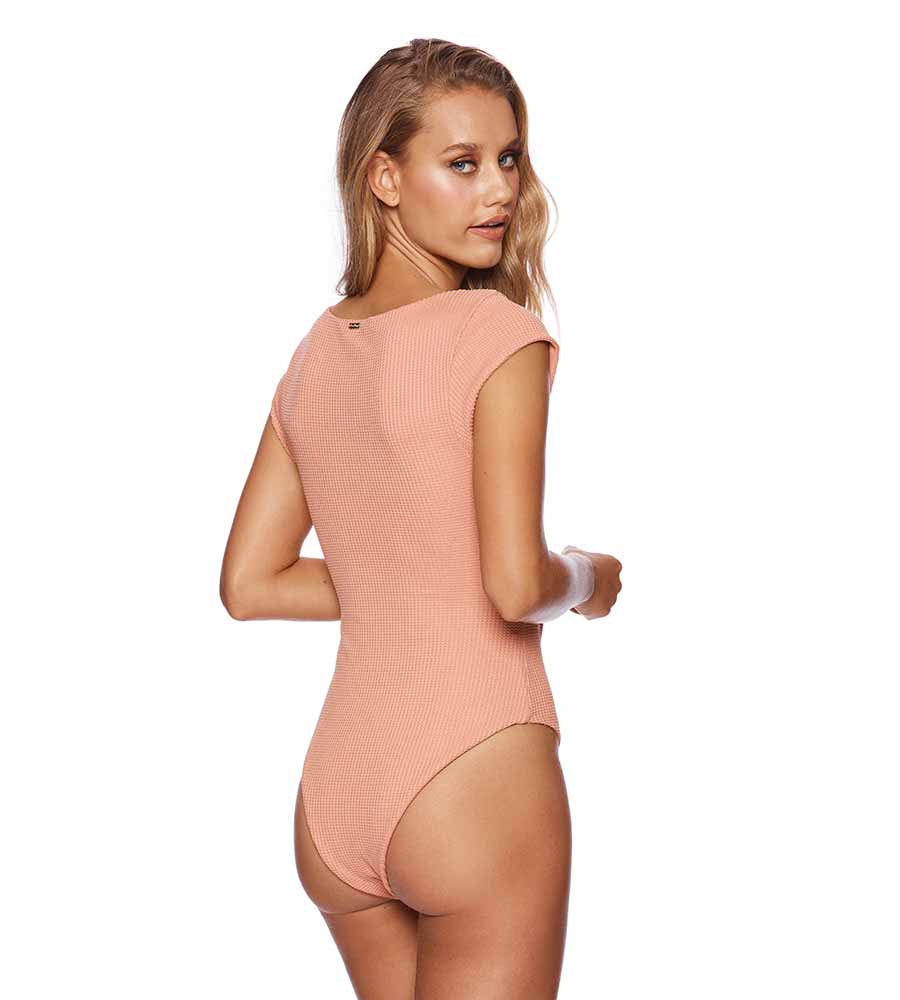 WHISKEY ROSE SUN KISSED SAGE ONE PIECE BEACH BUNNY B191041P-WHRS