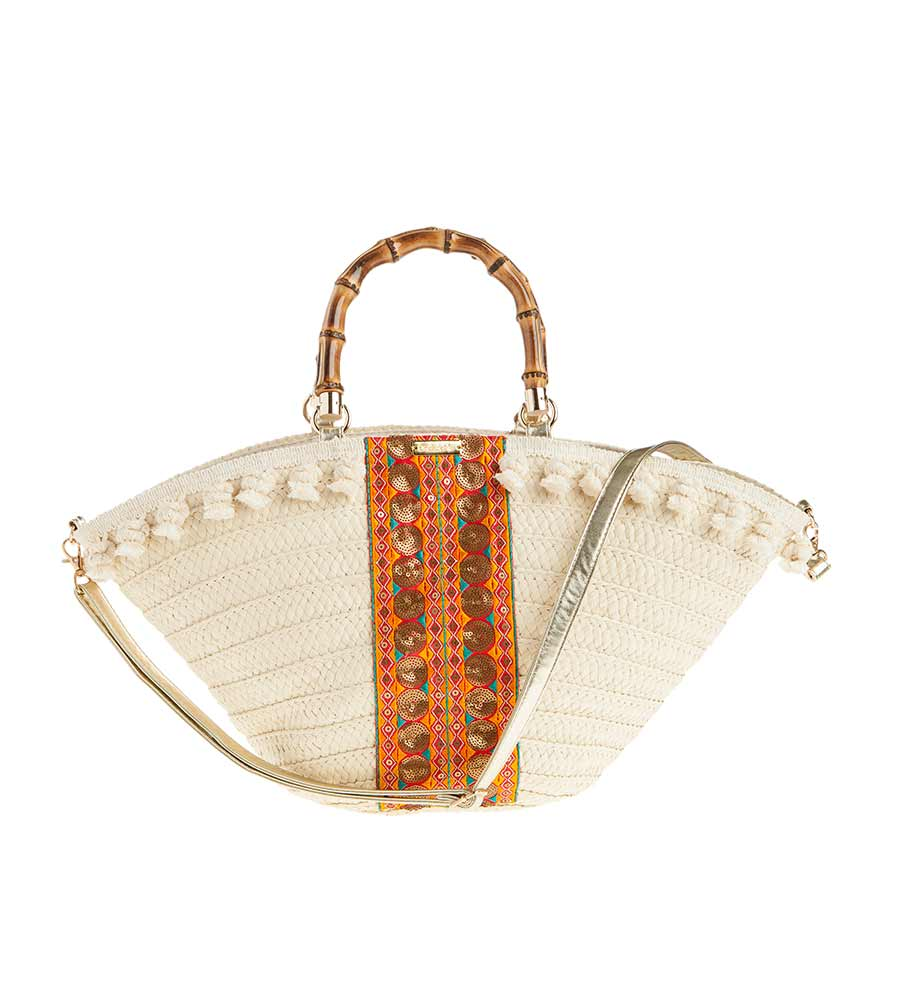 TURMERIC TOTE BEACH BAG BY ONDADEMAR