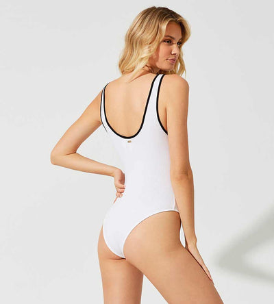 BARELY THERE WHITE MILA BODYSUIT BEACH BUNNY L12051P-WHTE