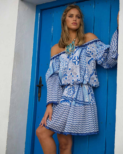 BELL SLEEVE SHORT DRESS JODY BELL JBSS17001