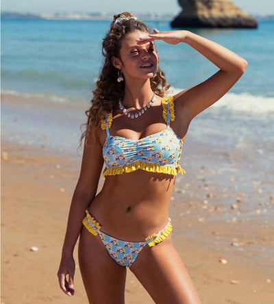 #BELOVELY DAISY BIKINI TOP KITESS SWIMWEAR BELOVELYTOPV3