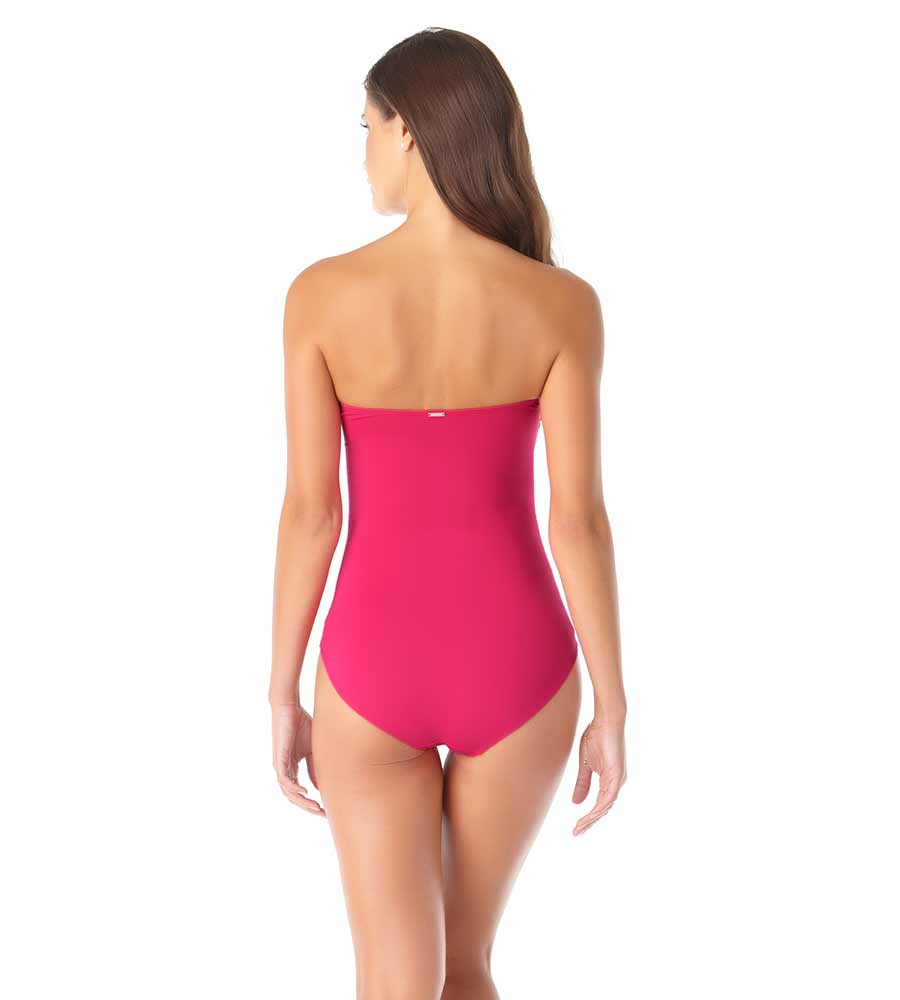 BERRY TWIST FRONT BANDEAU ONE PIECE ANNE COLE 20MO00501-BERY