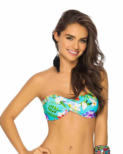 TROPICAL FLOWERS BANDEAU TOP PHAX BF11520281-420
