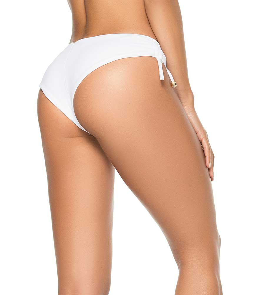 WHITE COLOR MIX CHEEKY TIE SIDE BOTTOM BY PHAX