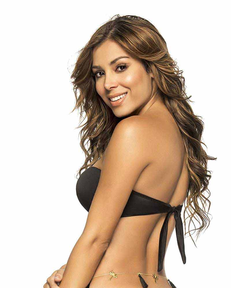 BLACK COLOR MIX TWIST BANDEAU TOP BY PHAX