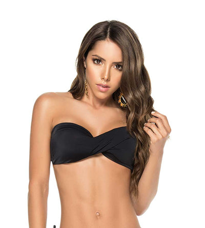 BLACK COLOR MIX TWIST BANDEAU TOP 2019 PHAX BF16520019-001