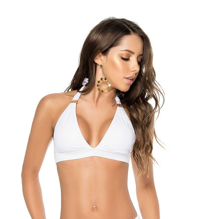 WHITE COLOR MIX HALTER TOP 2019 PHAX BF16530015-100
