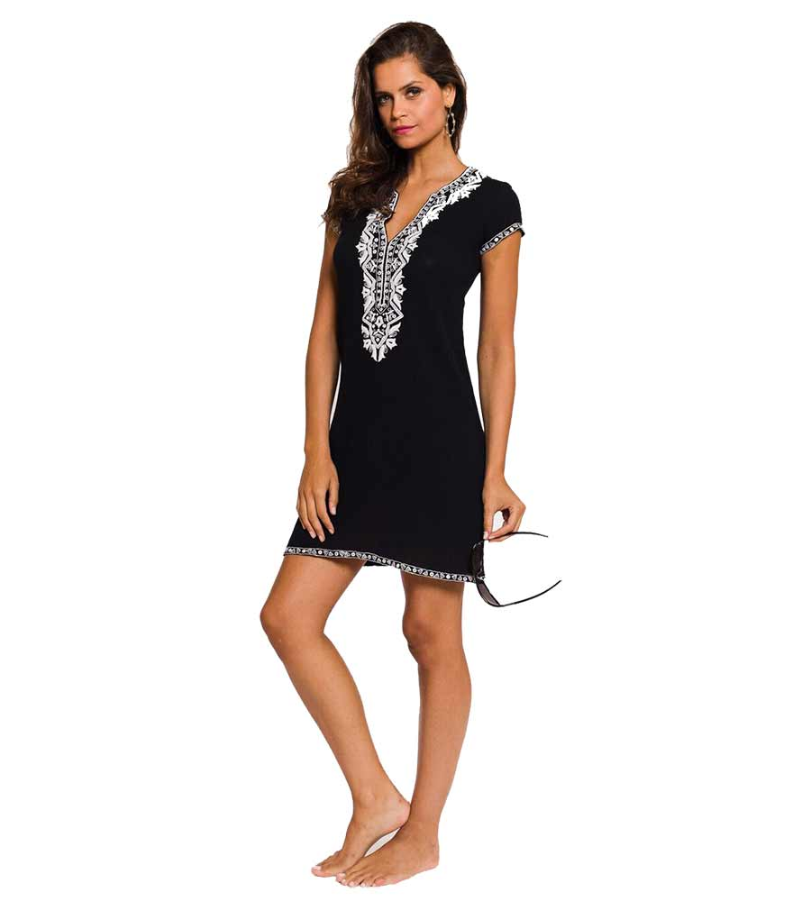 BLACK ALEX CAP SLEEVE DRESS SULU ALEX12
