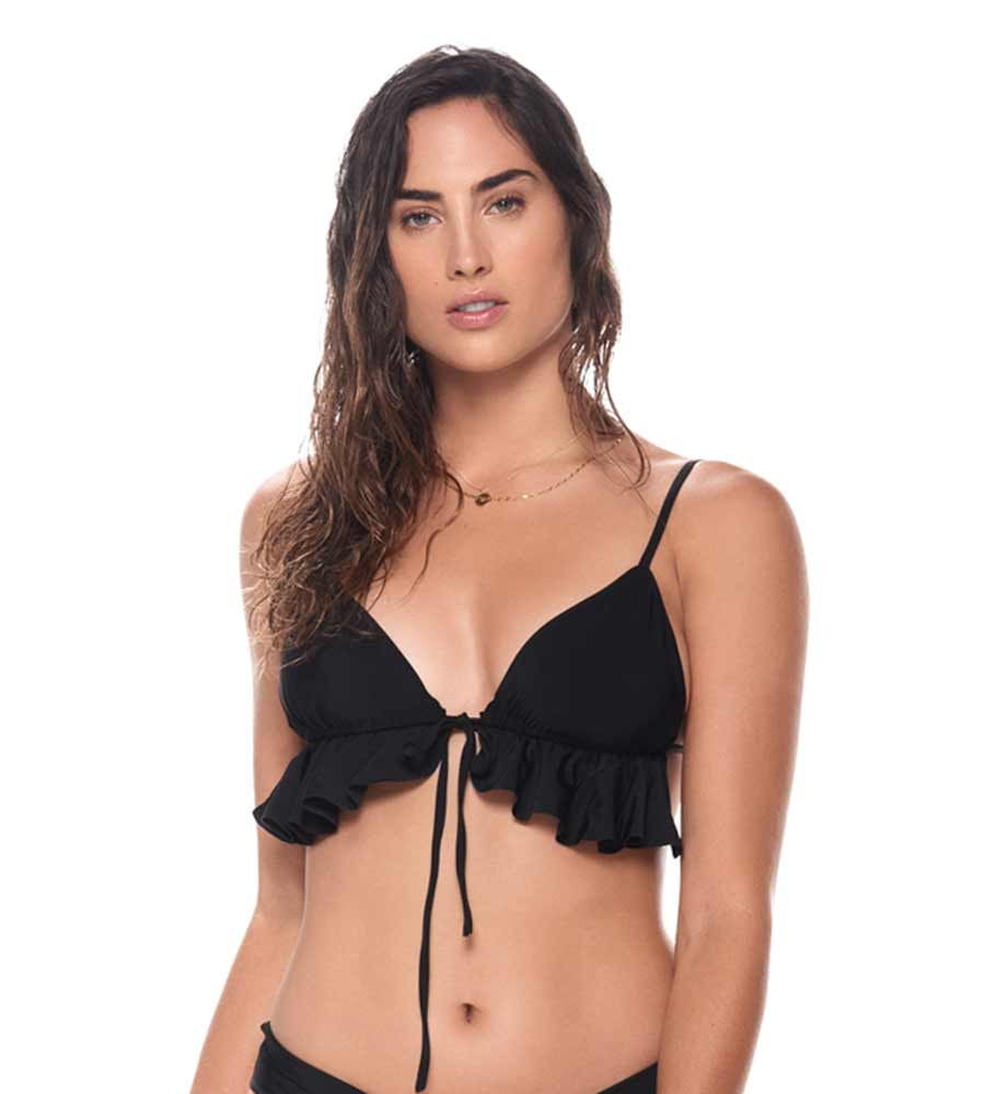 BLACK BAHIA TRIANGLE TOP BY MALAI