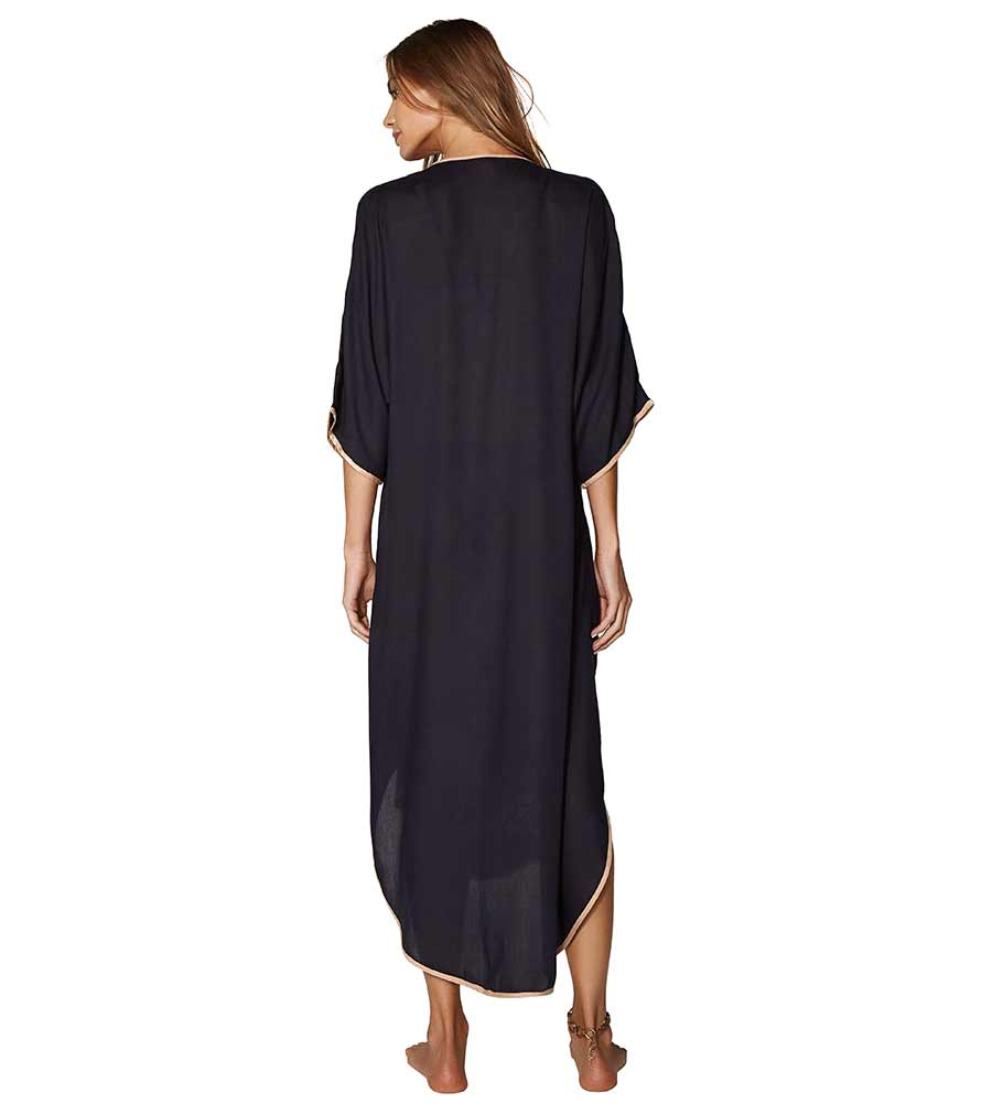 BLACK BRAID CAFTAN VIX 380-407-001