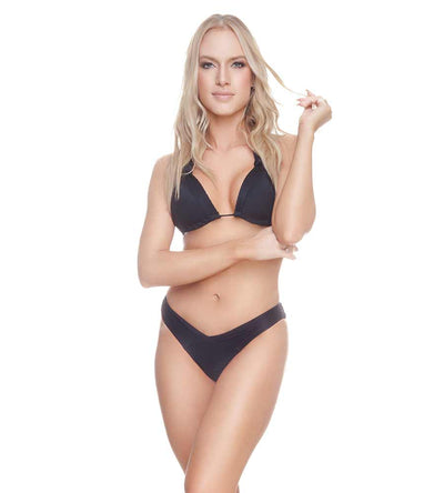 BLACK CONNIE HIGH LEG BIKINI TOP DESPI 0194T