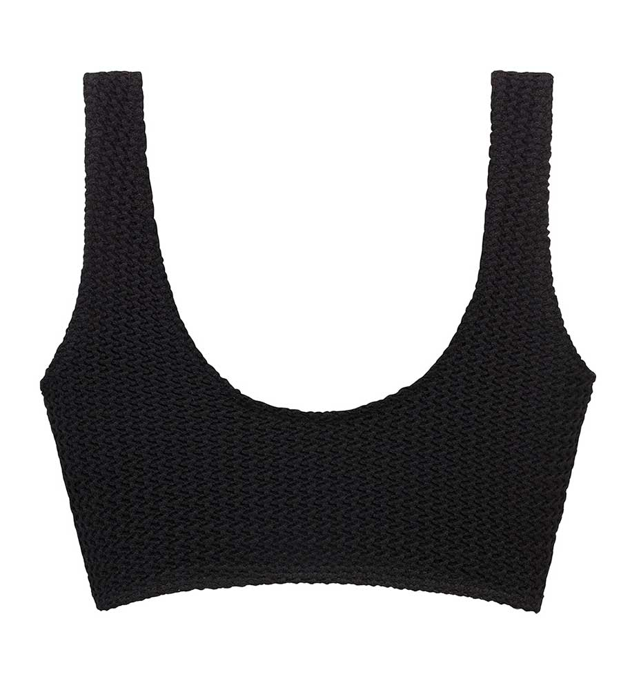BLACK CROCHET KIM VARIATION TOP BY MONTCE