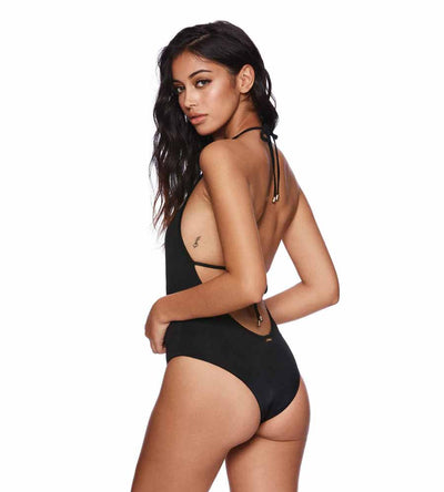 BLACK FARRAH ONE PIECE BEACH BUNNY B181091P-BLCK