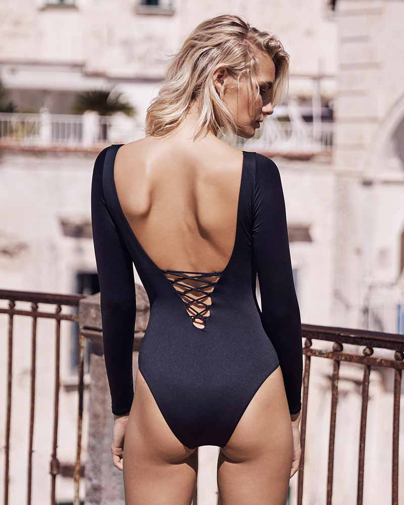 BLACK HELENA MAILLOT BY AMAIO