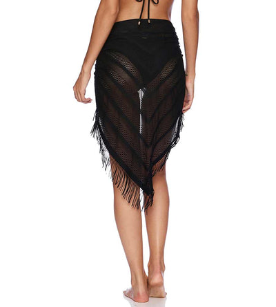 BLACK INDIAN SUMMER PAREO BEACH BUNNY B16130C8-BLCK