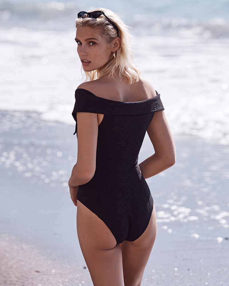 BLACK JAQUELINE MAILLOT BY AMAIO